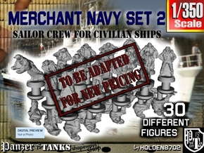 1-350 Merchant Navy Crew Set 2 in Transparent Acrylic