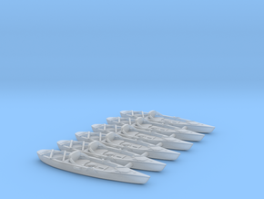 Marine Kayak 02. HO Scale (1:87) in Smooth Fine Detail Plastic