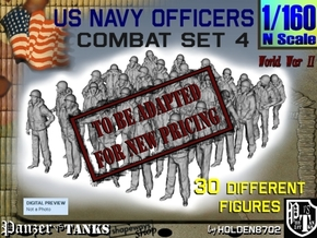 1-160 USN Officers KAPOK Set4 in Transparent Acrylic