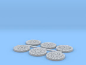 Water Manhole Covers in Frosted Ultra Detail