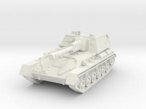 SU-76 M tank (Russian) 1/87 in White Natural Versatile Plastic