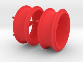 Zwillingsreifen Felge in Red Processed Versatile Plastic