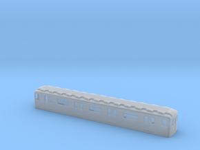 Soviet metro middle wagon TT [body] in Smooth Fine Detail Plastic