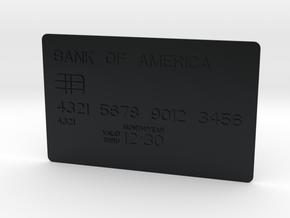 Bank card in Black Hi-Def Acrylate
