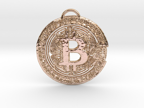 BTC BOSS Pendant in 14k Rose Gold