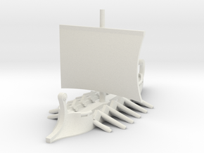 1/700 Short Trireme (1-piece) in White Natural Versatile Plastic