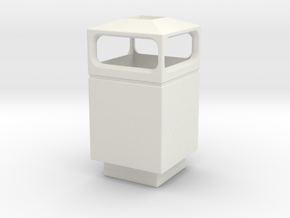 1/35 Trash Can #1 Square Single MSP35-036a in White Strong & Flexible