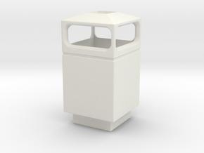 1/35 Trash Can #1 Square Single MSP35-036a in White Natural Versatile Plastic