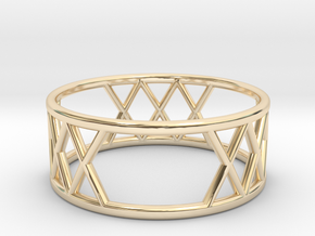 XXX Ring Size-7 in 14k Gold Plated Brass