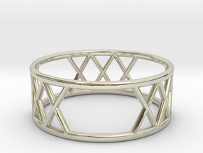 XXX Ring Size-8 in 14k White Gold