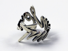 Amour Fou Ring (Various Sizes) in Polished Silver