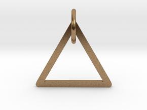 """Keychain """"Triangle"""" in Natural Brass (Interlocking Parts)"""