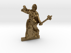 28mm miniature NECROMANCER  in Natural Bronze