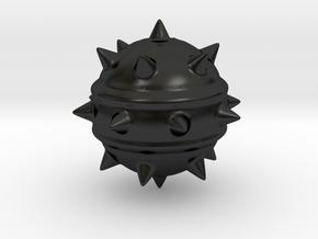 High-Poly Stickybomb (Solid) in Matte Black Porcelain: Medium