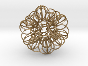 Annular Fractal Sphere in Polished Gold Steel