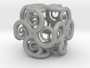 Spiral Fractal Cube in Aluminum