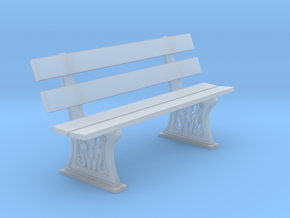 GWR Bench 4mm scale 00 6ft in Smooth Fine Detail Plastic