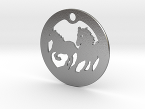 FREEDOM (precious metal earring/pendant) in Natural Silver