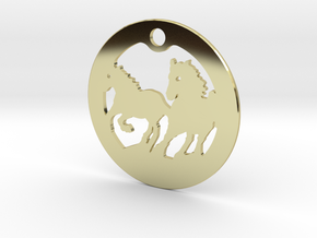 FREEDOM (precious metal earring/pendant) in 18k Gold Plated Brass