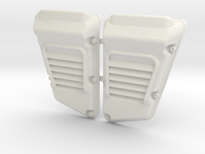 Land Rover Defender Wolf Intakes (pair) in White Natural Versatile Plastic