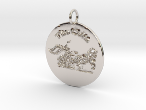 The Celts Pendant 2 in Rhodium Plated Brass