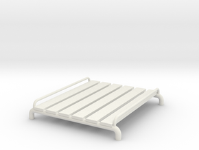 1/24 Scale Roof Rack With Side Rails in White Strong & Flexible