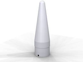 Classic estes-style nose cone BNC-55AM replacement in White Processed Versatile Plastic