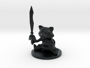UnicornCat warrior in Black Hi-Def Acrylate