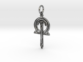 Celtic Sword Pendant in Natural Silver