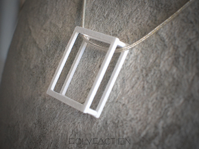 Wire ::: Square Pendant ::: v.01 in White Processed Versatile Plastic