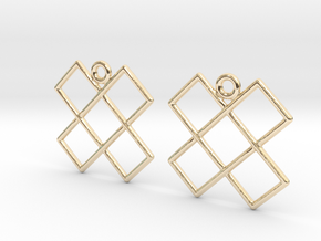 Celtic Weave Earrings - WE014 in 14k Gold Plated Brass