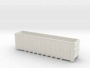 Coal Gondola Rail Car Nscale in White Natural Versatile Plastic