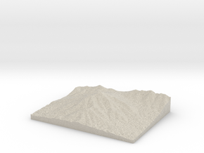 Model of Sharp Top Mountain in Natural Sandstone