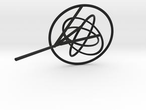 Borromean-inverse Siefert surface in Black Natural Versatile Plastic