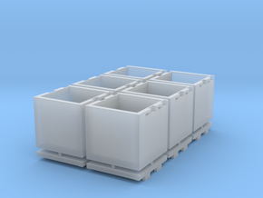 Cubic Centimeter Storage Box in Smooth Fine Detail Plastic