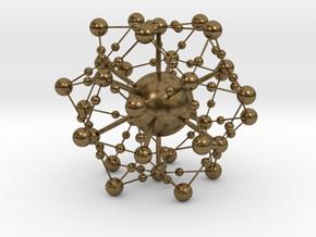 Complex Fractal Molecule in Natural Bronze