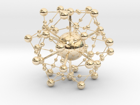 Complex Fractal Molecule in 14K Yellow Gold