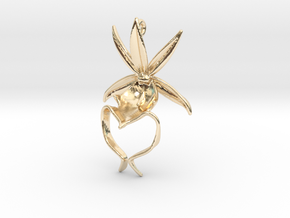 Ghost Orchid Earrings in 14k Gold Plated Brass