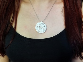 Gyro Disc Pendant (Earrings) in White Natural Versatile Plastic