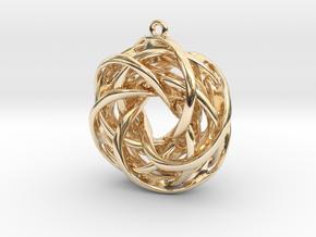 Interlocked tori earrings in 14K Yellow Gold