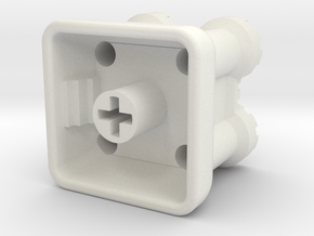 Castle Keycap in White Natural Versatile Plastic