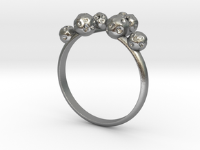 Moon Rock Ring in Natural Silver