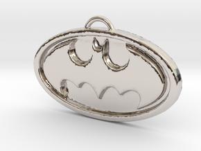 Batman Pendant in Rhodium Plated Brass
