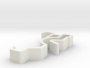 Blind Valance Clip 00129 SM B in White Natural Versatile Plastic