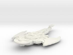 Cardassian Rasilak Class  HvyCruiser in White Natural Versatile Plastic