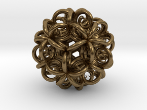 Spiral Fractal Clew in Natural Bronze