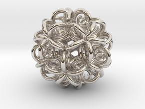 Spiral Fractal Clew in Platinum