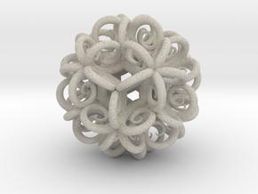 Spiral Fractal Clew in Natural Sandstone