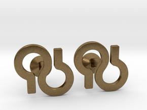 Custom Logo Cufflinks in Natural Bronze