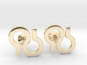 Custom Logo Cufflinks in 14k Gold Plated Brass